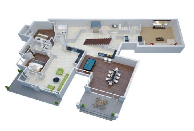create Interior, Exterior and 3D Floor Plan