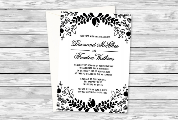 customize this floral wedding invitation for you