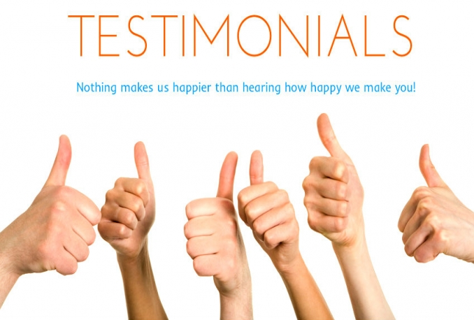 give you a realistic video testimonial