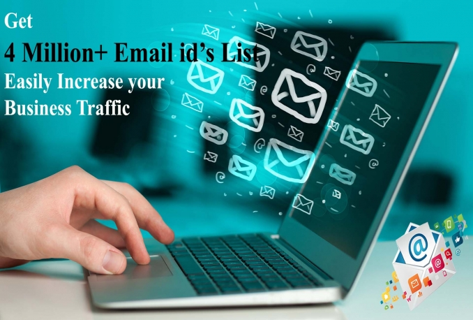 provide 4 millions of E-mail id's