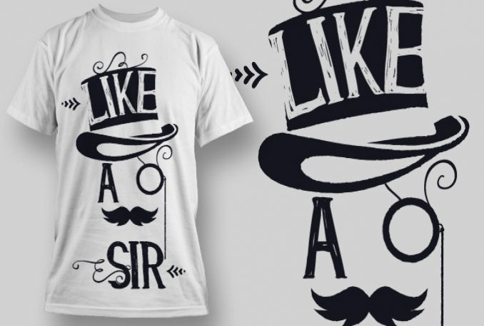 design T shirt with FREE Vector File