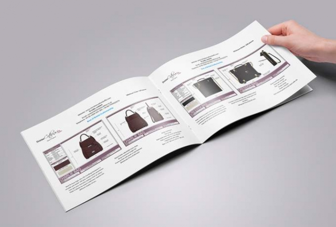 design business brochure or product catalog