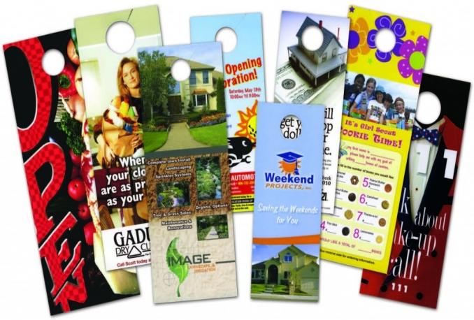 design AWESOME, Door Hanger, Rack Card,Banners