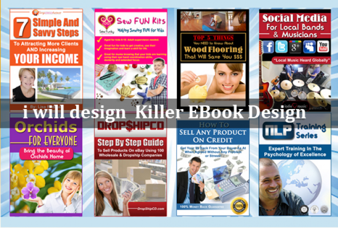 design Killer Ebook Cover or Kindle Cover