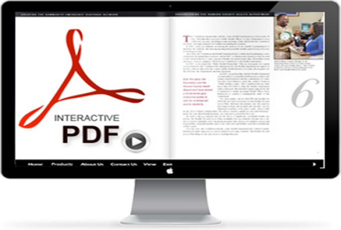 create an INTERACTIVE pdf file