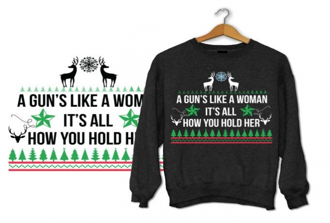 create awesome christmas sweater tshirt