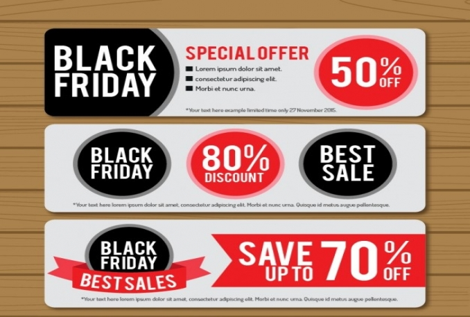 design a SELLING Black Friday custom banner and web graphics