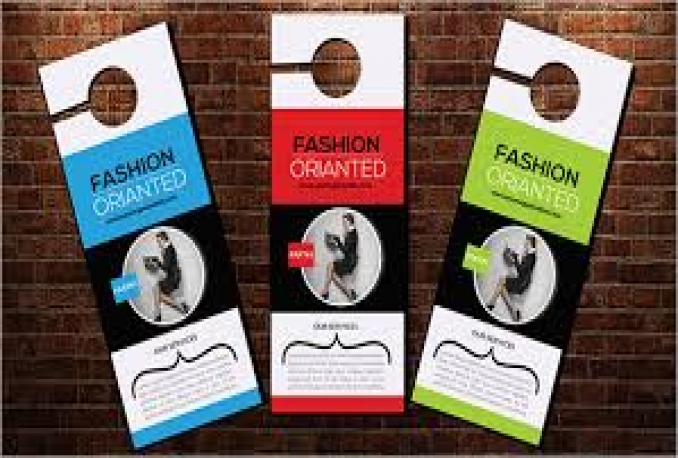 create Alluring Door Hanger for Marketing