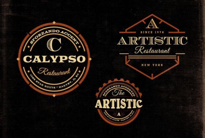 make vintage retro logo