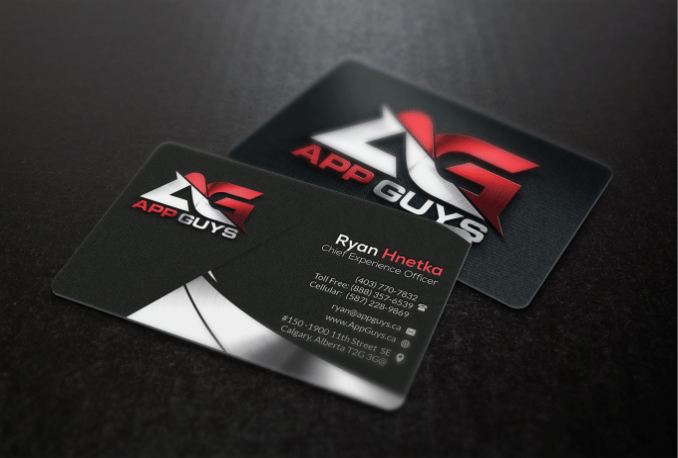 create an amazing and unique business card