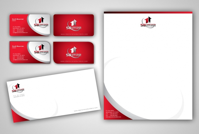 design a double sided business card and letterhead