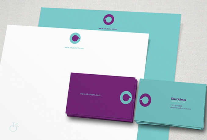 design BUSINESS card and corporate stationery