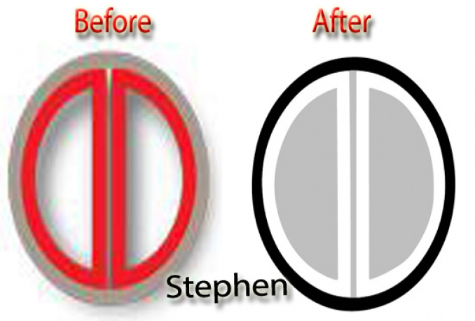 convert Raster Image, logo to Vector in 24 hours