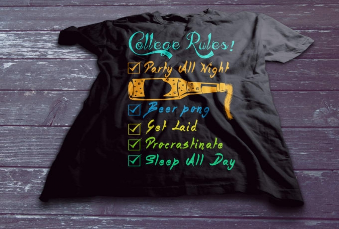 design the T shirt with Creative IDEAS
