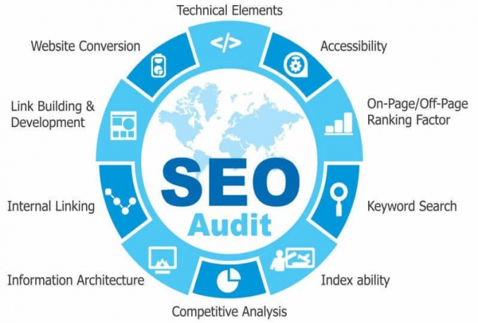professional SEO Website Audit and write an action plan
