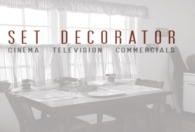 provide you an opportunity to work as Set Decorator