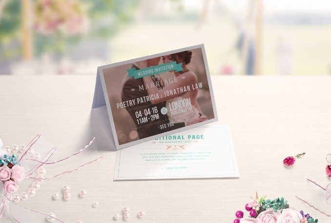 I will create elegant invitation card for 9 renshaw design invitation card for your event stopboris Images