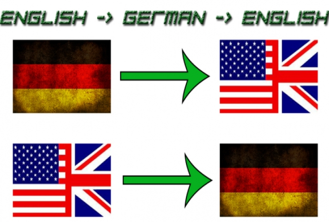 translate English and German