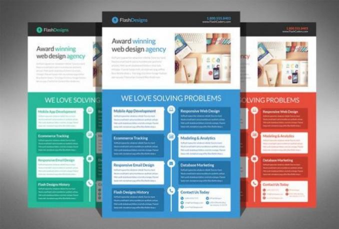 design flat Advertising Flyer