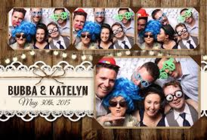 do a creative photo booth template
