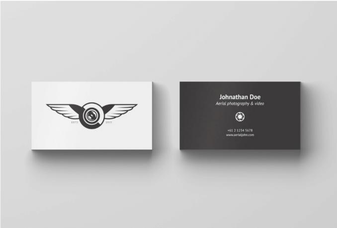 design a professional minimal business card