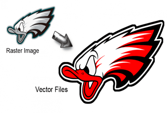 trace, convert, redraw any logo to vector