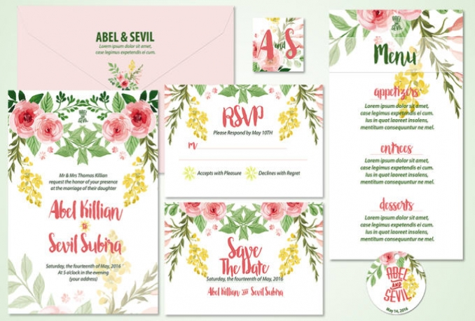 design OUTSTANDING wedding invitation sets