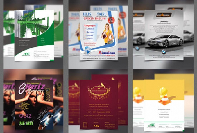 design AWESOME flyer, poster, brochure