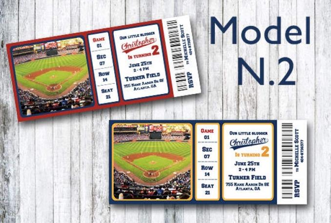 create an amazing baseball ticket invitation