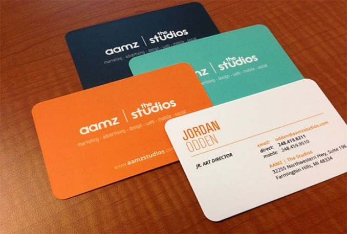 design OUTSTANDING 2 side business card
