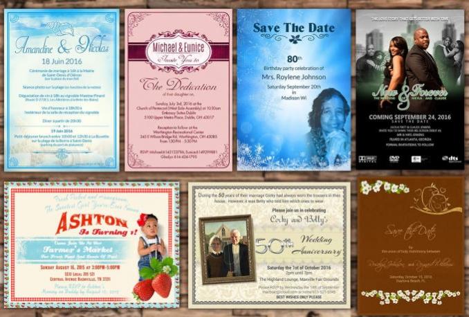 design birthday, wedding invitation or greeting card