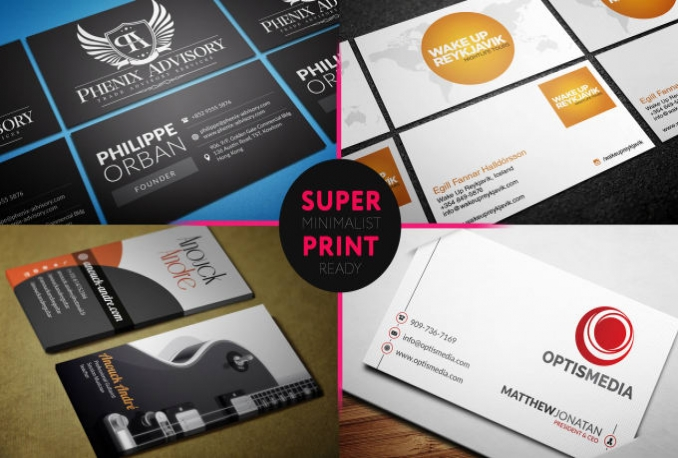 design MINIMAL and Stylish Business Card