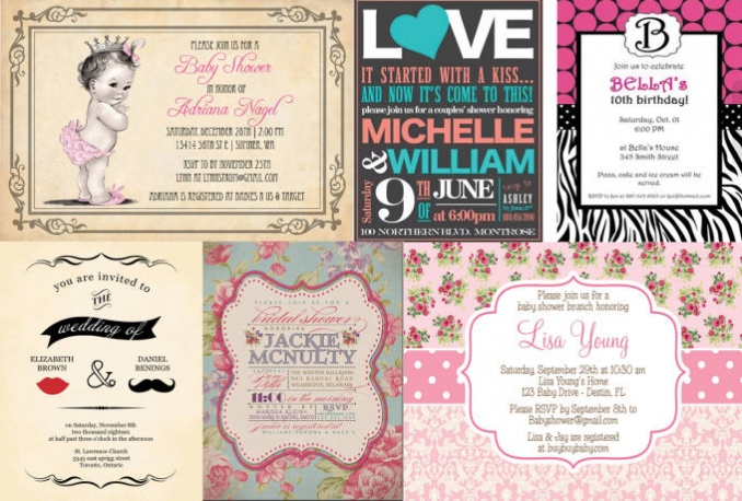 design simple and retro invitations for any occasion