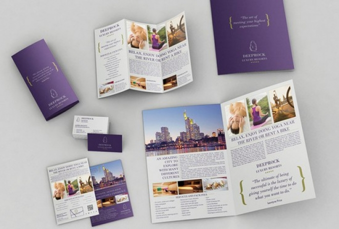design Business Trifold, Bifold Brochure