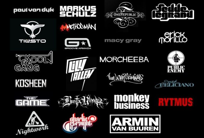 design DJ , Typography , Band or Music logo
