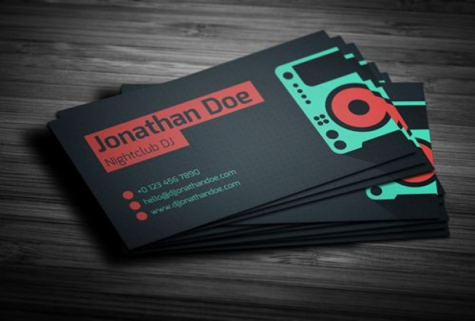 I Will Create An Amazing And Unique Business Card For Seema - Free dj business card template