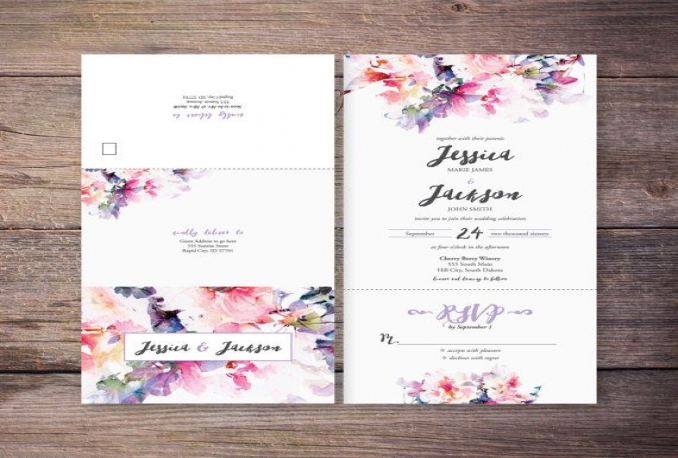 create watercolour textured text for your invitations