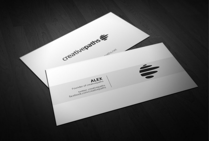 design a professional minimal business card