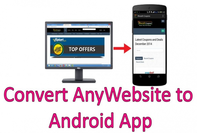 convert your web into android app