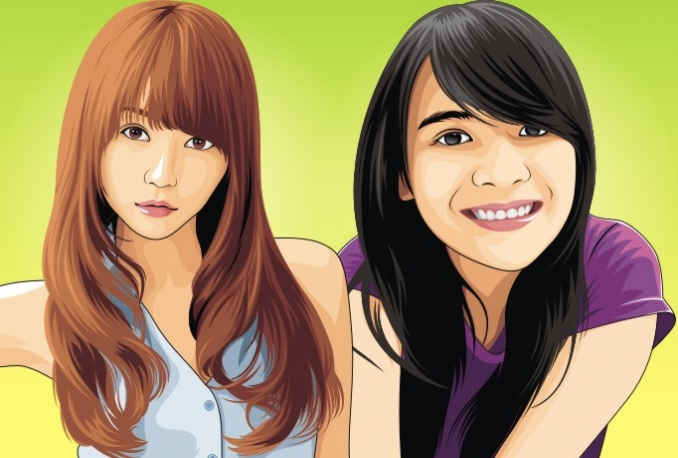 create your photo into cool Vector
