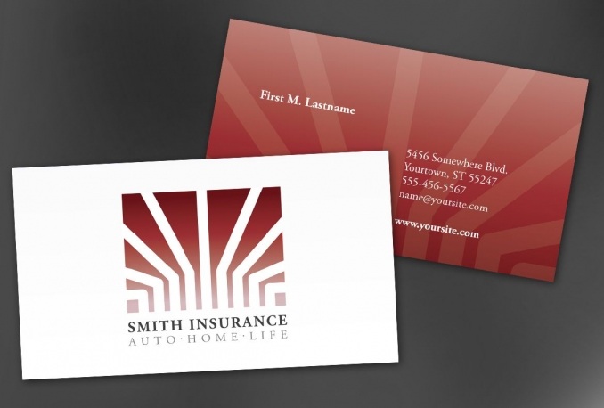 create an amazing and catchy business card