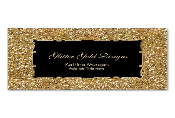 give gold glitter look to your business card, logo