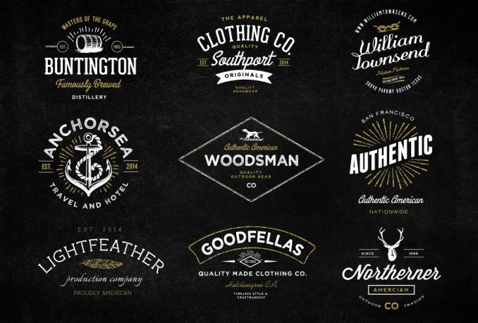design classic hipster logo