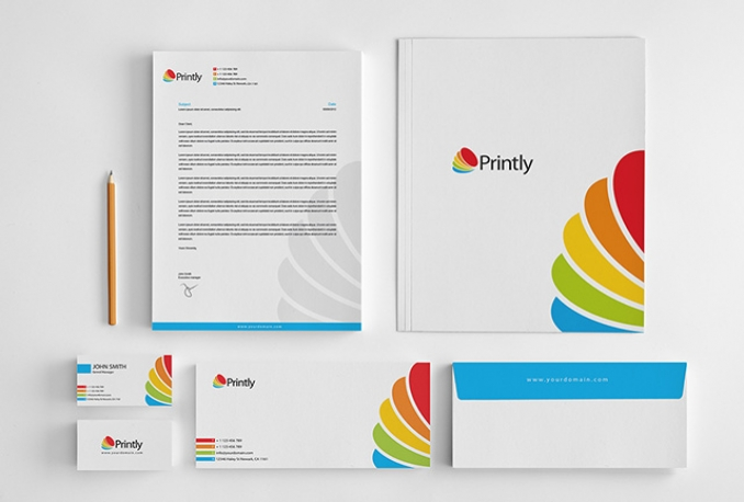 design business card, Letterhead or stationary