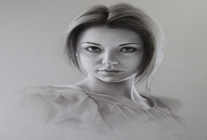 do pencil drawing sketching portrait