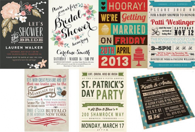 design retro invitations for any occasion