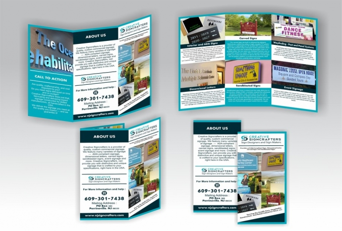 do design professional Trifold brochure