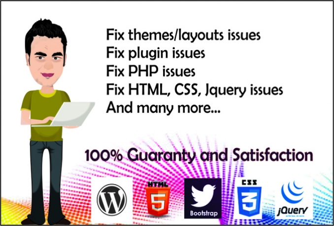fix your html, css, jquery, wordpress issues