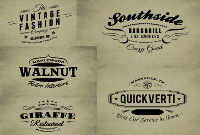 design Retro Vintage Logo