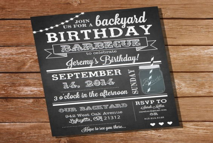 create an awesome birthday invitation or any other invite